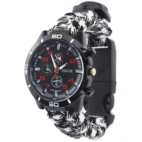 bracelet paracorde montre black and white