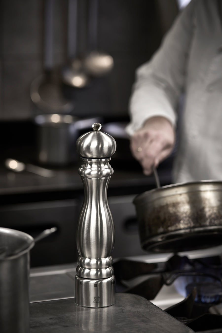Peugeot Paris Chef Stainless Steel Pepper Mill, 12