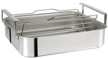 Cristel 15 inch stainless steel roaster is thoughtfully crafted in everyway
