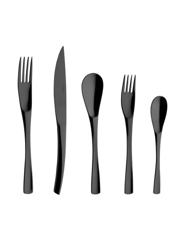 Degrenne XY Black Cutlery Collection, 5 Pieces