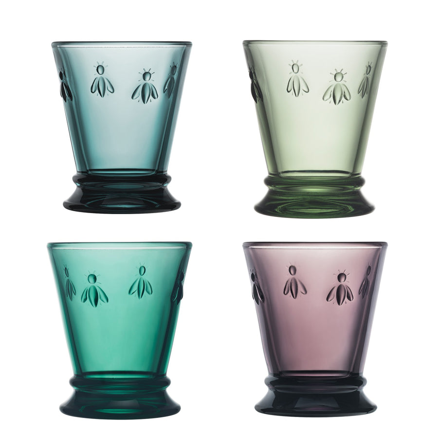 La Rochère Colored Bee Tumbler, Assorted Set of 4