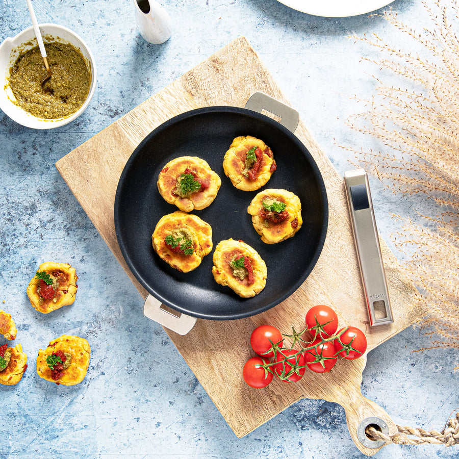 Cristel Strate Frying Pan Set, 4 pieces