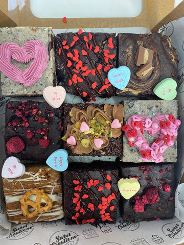Valentine's Day brownie box