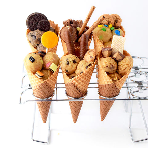 Cookie Dough Ice Cream Cones // JULY