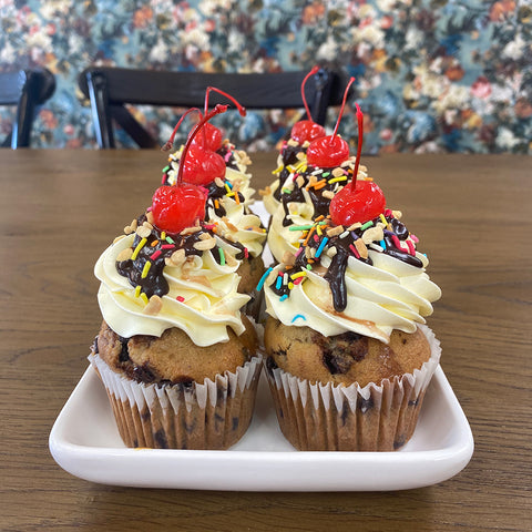 Banana Split Cupcake from Sweet Creations in Marlborough, NZ