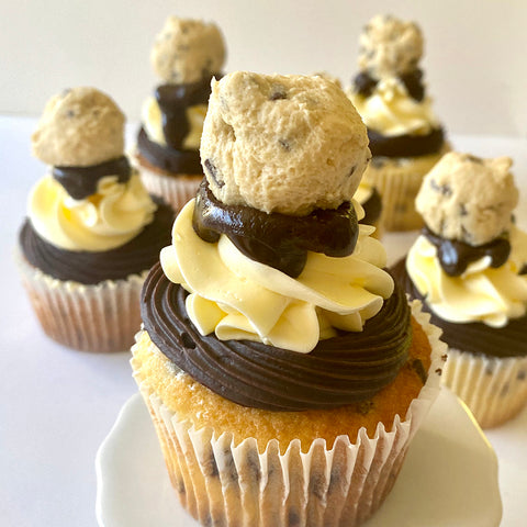 Chocolate Chip & Cookie Dough Cupcake by Sweet Creations, Blenheim, New Zealand
