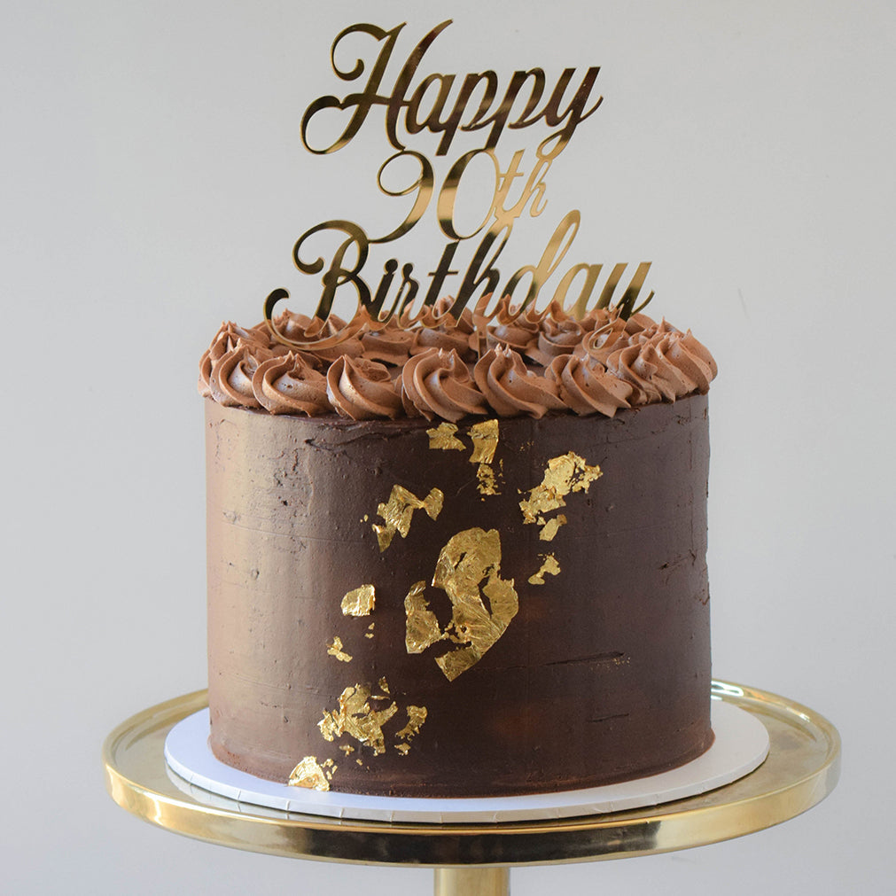 Chocolate Ganache & Gold Leaf Cake from Sweet Creations in Marlborough, NZ