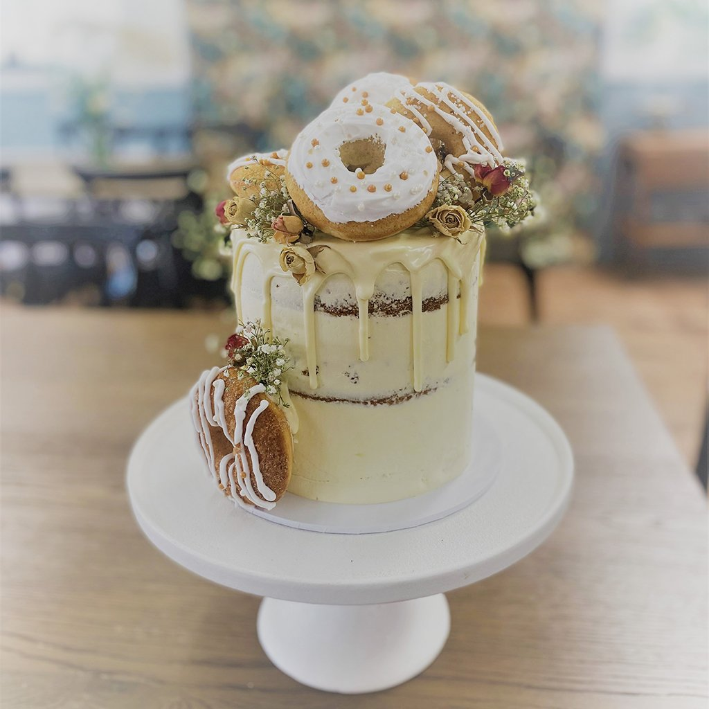 Donuts and Dried Flowers Cake from Sweet Creations Marlborough, NZ