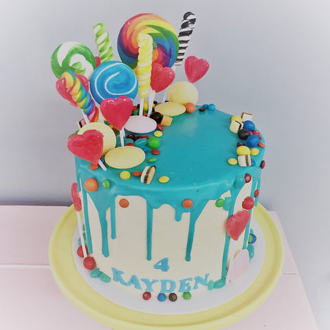 Lollipop Loaded cake by Sweet Creations, Blenheim, New Zealand