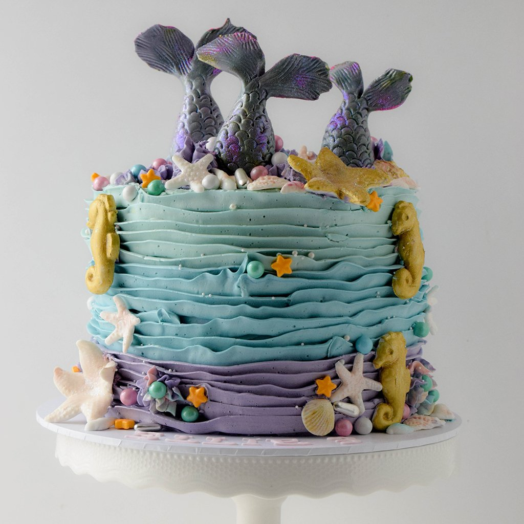Ruffles & Mermaid Tails Cake from Sweet Creations in Marlborough, NZ