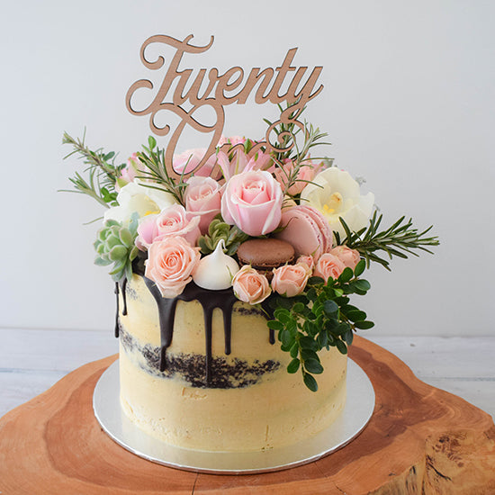 Semi Naked Full Floral, Fresh floral cake from Sweet Creations NZ