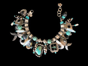 """Sterling Silver & Turquoise Bracelet"""