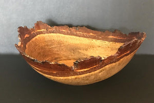 """Live Edge Oak Bowl"""