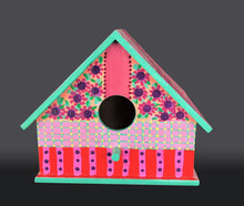 "Load image into Gallery viewer, ""Springtime Bird House"""