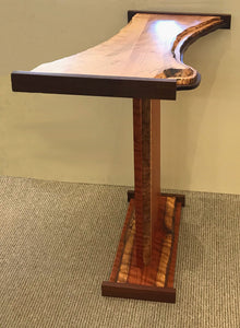 """Acacia & Silver Maple Table with Walnut Accents"""