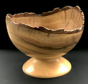 """Live Edge Footed Bowl"""