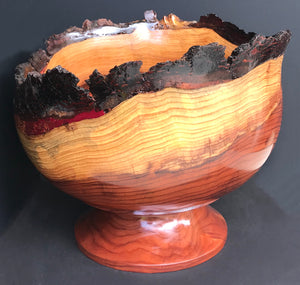"""Footed Redwood Bowl"""