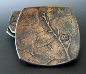 Ceramic Dish, Fern or Gingko