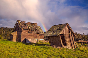 """Spring Ranch Barns and Rainbow"""