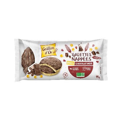 Galettes Mais Nappees Chocolat 95g Grillon