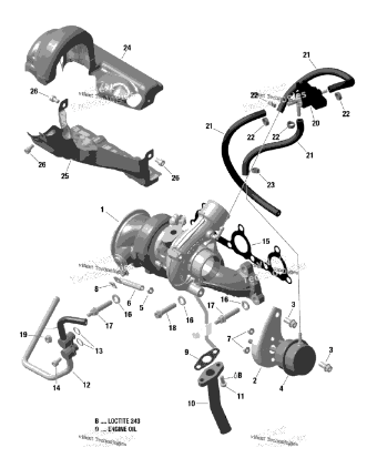 OEM '17 & '18 Can-Am Turbocharger Components