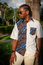 Load image into Gallery viewer, BROWN FISH SCALES PRINT SHIRT
