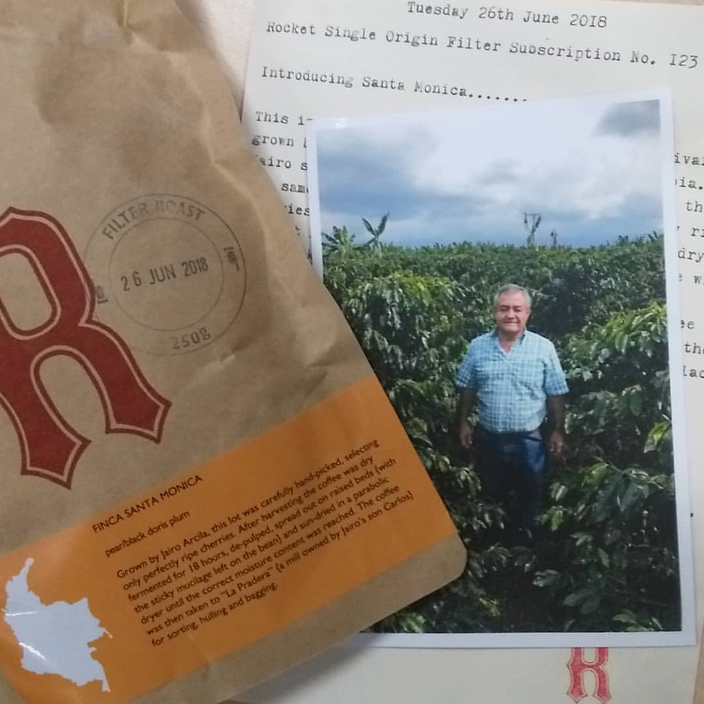 ROCKET - single origin filter subscription gift card