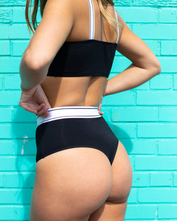 High Waist Tanga ''BLACK''