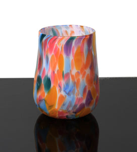 Stemless Wine Glass - Rainbow Mix