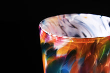 Load image into Gallery viewer, Hand Blown Pint Glass - Rainbow Mix w/ White
