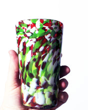 Load image into Gallery viewer, Hand Blown Pint Glass - Holiday Mix