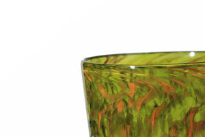 Hand Blown Pint Glass - Green & Gold