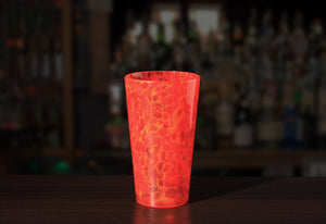 Hand Blown Pint Glass - Lava