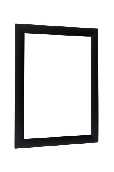 'NiRaLine' Handmade Picture Frame made to fit 88 cm x 150 cm (34.6 x 59.1 inch) picture, Colour: Black Matt, made of MDF wood and Acrylic glass (Plastic glass)