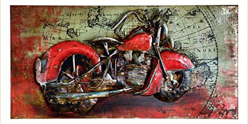 'Gilde Gallery 38647 Metal Picture Easy Rider""