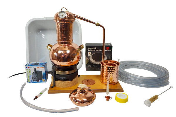 """CopperGarden®"" Table-top Still Arabia, 2L Electric with Accessory Set"