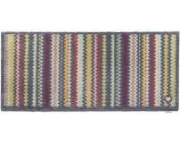 """65cm x 150cm (HUG RUG Designer 10 Zig Zag Stripe) THE BEST QUALITY Machine Washable, Dirt Trapper Door Mat / Runner"""