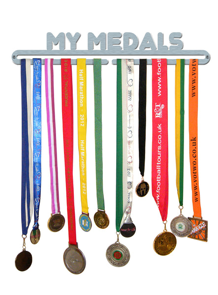 'My Medals' Medal Hanger Display Holder Brushed Stainless Steel - Made in Britain