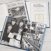 """Your Life in Pictures"" Newspaper Photo Book with Personalised Embossed Front Cover and Gift Box"