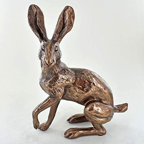 # Alert Bronze Hare Sculpture Buttercup By Harriet Glen
