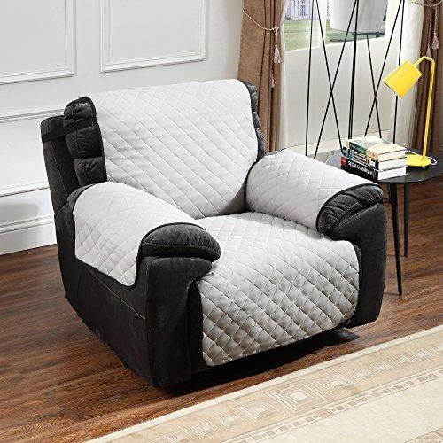 Swell Argstar Reversible Recliner Chair Cover Anti Slip Furniture Slipcover Black Light Gray Caraccident5 Cool Chair Designs And Ideas Caraccident5Info