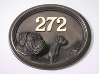 'Boxer' Dog Bronze Plaque House Sign