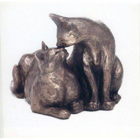 'Felix and Oscar' Bronze Cat Sculpture by Paul Jenkins