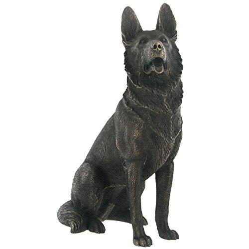 'German Shepherd' Cold Cast Bronze Statue H17cm