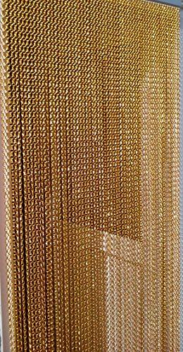 'GOLD' - Premium Aluminium Chain Blind/ Screen Blind/ Insect Screen/Chain Screen/Fly Screen/Strip Blind/Bug Blind-UK Standard Door Size: 80cm