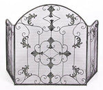 """Hampbridge Grange"" French Shabby Chic Style Fire Guard/Screen - Black Finish"