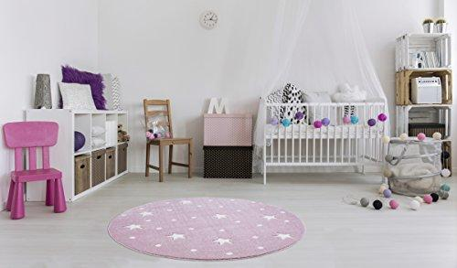 silver grey LIVONE Childrens Bedroom Rug with Dots Stars ...