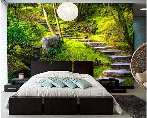 Lqwx 3d Wallpaper Custom Photo Trees Stone Trail Forest Room Decoration Painting Picture 3d Wall Murals Wallpaper For Walls 3 D 200cmx140cm