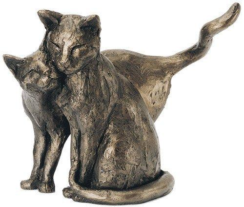 'Making Friends' Bronze Cat Sculpture Paul Jenkins - Frith