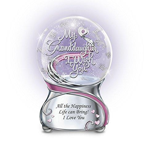 'My Granddaughter, I Wish You' Glitter Globe By The Bradford Exchange